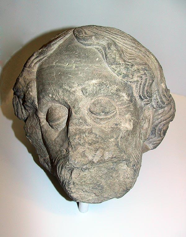 Kopf aus einer Ölberggruppe, 15. Jh.