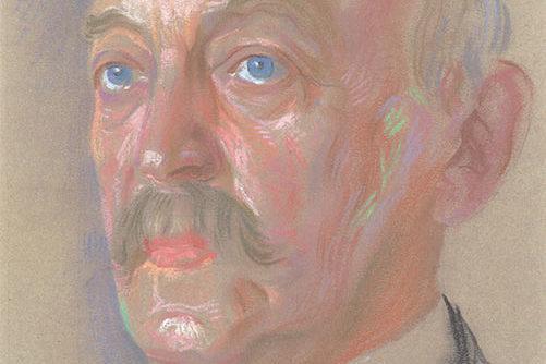 Max Ferdinand Lobeck, 1918 (Repro, Kreismuseum) Zu seinem 70. Geburtstag wurde ein Maler beauftragt, ein Porträt für den Sitzungssaal zu schaffen, welches zu seinem Amtsabschied aufgehängt wurde.