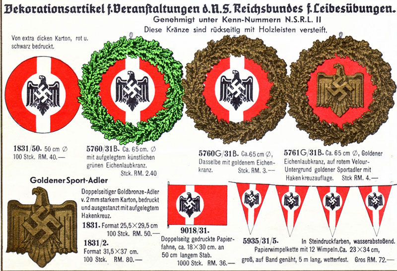 """Auszug aus der im Februar 1939 herausgegebenen Sonderliste """"Nationale Feiern"""" (Kreismuseum)"""